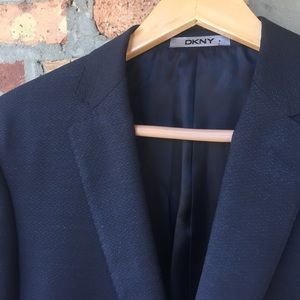DKNY 40 Regular 100% wool navy blue blazer